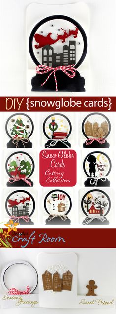 If the weather outside is frightful, stay inside and capture a winter scene with a snow globe card. This collection features eight different winter scenes in a cute tri-fold shaped card plus sentiments you can mix and match for the perfect card.