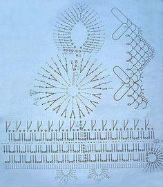 Au crochet n° 1,5 à 2 , avec le coton rose , commencer par la tête , monter 10 m.l. , fermé par 1 m. coulée + 3 m.l. pour tourner et continuer selon la grille .