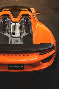 Visit The MACHINE Shop Café... ❤ Best of Porsche @ MACHINE ❤ (Orange PORSCHE 918 Spyder)