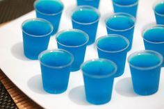 These cocktail treats doesn't need to be stirred nor shaken. Dress up a regular gelatin recipe by adding vodka or rum and other liqueur goodies for any adult party or gathering. Prepare the shot cups. Make individual rows of 2-ounce...
