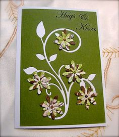 Really pretty card using Cheery Lynn dies