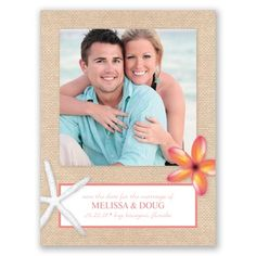Perfect for your destination or coastal wedding! This save the date card has loads of seaside charm. #SaveTheDate #DavidsBridal http://www.invitationsbydavidsbridal.com/Wedding-Invitations/Save-the-Dates/2947-DBP32887SD-Beachy-Starfish--Save-the-Date.pro?&sSource=Pitnerest&kw=SaveTheDate_DBP32887SD