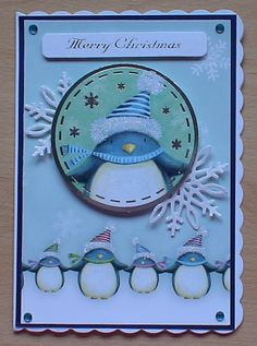 #Hunkydory #create and craft #spellbinders The topper and background card are from the Hunkydory 4 day deal on create and craft. I have also used spellbinders dies and cut snowflakes in white glitter card.