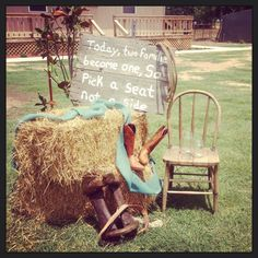 use your boots as wedding decor!