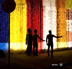 The Buddhist flag recreated with coloured lights.  #KnowSL #SriLanka #Vesak #Lanterns #FestivalofLight #SriLankaTravel  Copyright © Crintech Pvt Ltd.