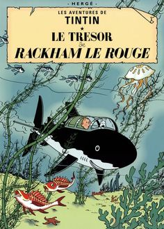 Red Rackham's Treasure (The Adventures of Tintin): The classic graphic novel. Tintin and Captain Haddock set sail aboard the Sirius to find the sunken remains of the Unicorn ship and notorious pirate Red Rackham's treasure. Album Tintin, Captain Haddock, Herge Tintin, Rotten, Ebooks Pdf, Fiction, Ligne Claire, Guardians Of The Galaxy, E Bay