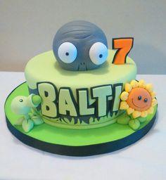 Zombie Birthday Parties, Zombie Party, Birthday Party Themes, Birthday Cake, Zombies Vs, Plantas Versus Zombies, Pokemon Party, Fondant Toppers, Crazy Cakes