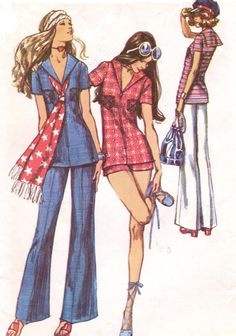 1970s Boho Simplicity Sewing Pattern 9372 Womens by CloesCloset