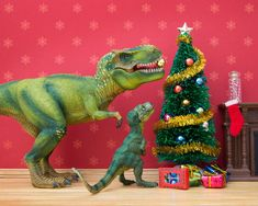 I teach my daughter photography by using her various toys to create dioramas that we take pictures of. In this case, an unlikely mix of plastic dinosaurs and dollhouse furniture create fiercely domestic situations.   Each scene takes about a day to create and photograph, with a lot of trial and error.