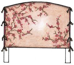 fabric for slipcovers | pretty printed fabric is used for this slipcover that is open at the ...
