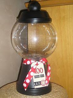 """100 Thank-Yous"" teacher treat jar. (teacher appreciation or 100 day project)"