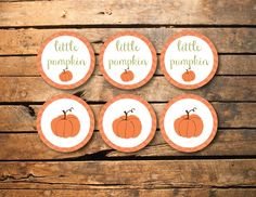 Instant Download Little Pumpkin Fall Autumn Chevron Birthday Party or Baby Shower Printable Cupcake Toppers on Etsy, $3.00