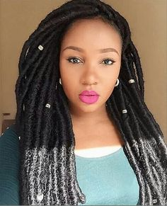 Love love love this faux locs style from NaturalHairMag