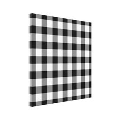 Black and White Gingham Pattern Canvas Print ($13) ❤ liked on Polyvore featuring home, home decor, wall art, art, black white home decor, black and white home accessories, black white wall art, monogram wall art and monogrammed home decor
