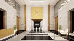Mimar Interiors L Office, Office Lobby, Lobby Bar, Hotel Lobby, Lobby Interior, Interior Design, Modern Moroccan, Inner World, Corridor