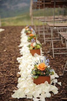 Orange, Coral and Blue Utah Mountain Wedding - Fab You Bliss
