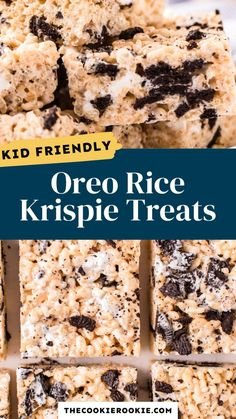 Oreo Rice Krispie Treats, Rice Krispy Treats Recipe, No Bake Treats, Rice Krispies, Candy Recipes, Sweet Recipes, Cookie Recipes, Snack Recipes, Dessert Recipes