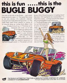 """Yesterday's Drive on Twitter: """"Bugle Buggy - 1970 #BugleBuggy #BeachBuggy… """" Beach Buggy, Dune Buggies, Twitter"""