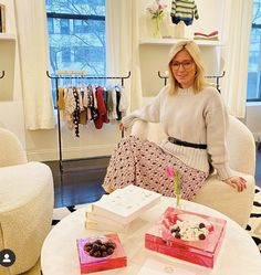 Marie Chantal of Greece, who splits her time between London and New York, has revealed the golden rules of etiquette she has instilled in her five children. Marie Chantal Of Greece, Kids Market, Promotion, Cashmere Jumper, Pleated Midi Skirt, Leaf Prints, Manners, Etiquette, Old Women
