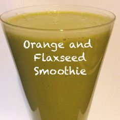 Orange and Flaxseed Smoothie