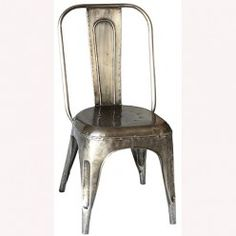 Smith Industrial Metal Dining Chair