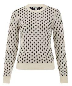 Kenzo White Raindrop Knit Jumper | Knitwear by Kenzo | Liberty.co.uk