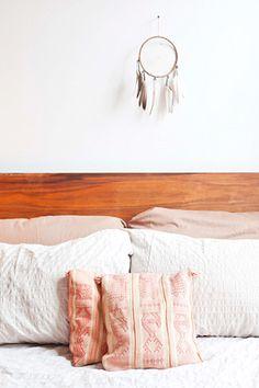 simple white + bedroom