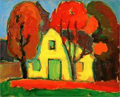 Alexej von Jawlensky (Russisch-deutscher Künstler, 1864-1941)  - Gelbes Haus