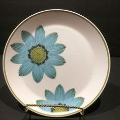 Noritake Dinner Plate Up-Sa Daisy Progression China Vtg Mod Japan 9001 10.5in  #NoritakeChina #MidCenturyModern
