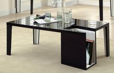 Modern Design   Black coffee table with an exclusive magazine storage   #coffeetable #moderndesign #livingroom the living room, modern living room, contemporary design   Visit our blog www.coffeeandsidetables.com