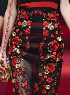 patternprints journal: PRINTS, PATTERNS AND SURFACE EFFECTS: BEAUTIFUL DETAILS FROM MILAN FASHION WEEK (WOMAN COLLECTIONS SPRING/SUMMER 2015) / Dolce & Gabbana