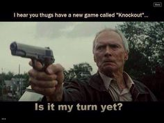 Funny Images, Funny Videos, Funny Quotes, Funny Pick Up Lines, and so much more. Some Extremely Funny Stuff. Clint Eastwood, Grand Torino, Merle Dixon, Video 4k, Pick Up Lines Funny, Streaming Hd, American Freedom, Game Calls, Chuck Norris