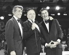 Dean Martin and Jerry Lewis with Frank Sinatra 1976 MDA Telethon.