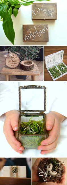 Cómo organizar tu boda: La Ceremonia. Ideas para los anillos #bodas #ideasbodas #weddingideas