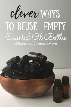 """Love this!! so many creative & practical ideas for what you can do with those empty (or almost empty) bottles! hand sanitizer, pillow spray, make-ahead diffuser blends, owie spray, personal inhalers, """"Lysol"""" disinfecting spray, skin toner, face serum, bath salts, air freshener, anti-itch spray, perfume, and LOTS MORE!!"""