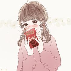 Manga Anime Girl, Anime Girl Drawings, Cute Drawings, Anime Girls, Cute Kawaii Girl, Kawaii Anime Girl, Anime Chibi, Character Design Teen, Anime Snow