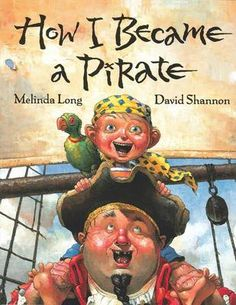 If you are teaching preschoolers and would like to introduce them to the world of pirates, here is a great pirate theme for Pre K students that centers around the book How I Became a Pirate written by Melinda Long and illustrated by David Shannon. David Shannon, John David, Library Lessons, Writing Lessons, Library Ideas, Writing Ideas, Children's Library, Class Library, Library Quotes