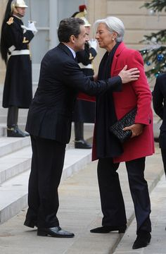 Christine Lagarde Photo - French President Nicolas Sarkozy meets IMF chief Christine Lagarde At Elysee Palace