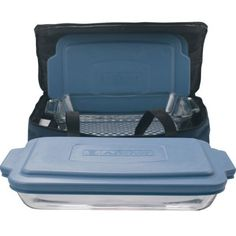 Anchor Hocking Oven Basics set includes (1) 3-quart baking dish with slate blue plastic lid, (1) 2-quart baking dish with slate blue plastic lid, (1) blue insulated tote, (1) hot/cold pack. Glass is microwave, pre-heated oven, refrigerator, freezer, and dishwasher safe; lids are BPA Free.... - http://kitchen-dining.bestselleroutlet.net/product-review-for-anchor-hocking-oven-basics-6-piece-bake-n-take-bakeware-set/