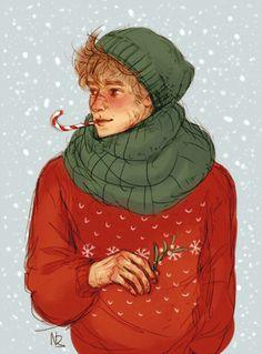 Remus Lupin - Professor Werewolf McWerewolf + some Christmas spirit by Natello's Art