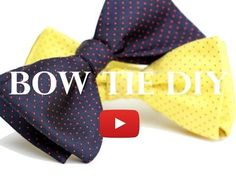 Learn how to make your own bow ties with my 3 min DIY Bow Tie video. Great as a fathers day present, groomsmen gift, and also to dress up our dogs and cats. Baby Boy Bow Tie, Boys Bow Ties, Baby Bows, Make A Bow Tie, Diy Bow, How To Make Bows, Sewing Clothes, Diy Clothes, Bow Tie Tutorial