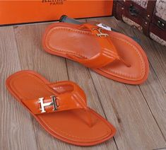76f2ed839d4739 Buy Hermes Rubber Thong Sandals Orange that is backed up with a strong  warranty