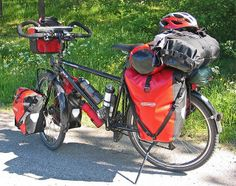 Loaded touring bike, via Flickr