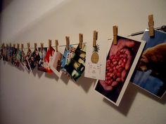 DayFive, diy wall decoration with postcards.