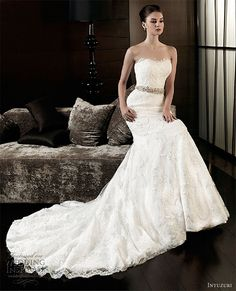 intuzuri wedding dress 2013 annabelle strapless lace sheath gown dresses