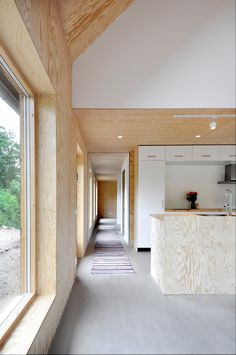 Oröd Lada,Courtesy of Jonte Norin Plywood Interior, Interior Architecture, Interior Design, Timber Cladding, Building A New Home, Metal Homes, House Made, House Plans, Modern Design