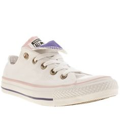 2ff714d5866b Converse White Double Tongue Ox Iii Trainers Womens White Converse