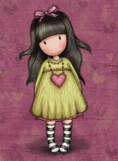 Browse all our Gorjuss Girls by Santoro London. Including dolls, bags, cards, arts & crafts & more. 3d Cards, Pop Up Cards, Little Doll, Little Girls, Cute Images, Cute Pictures, Illustrations, Illustration Art, Santoro London