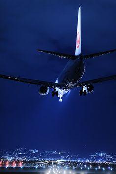 Night landing by IchiroMurata