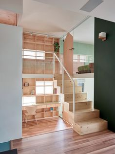 Big interior design ideas fill this shoebox-sized apartment in Taiwan.